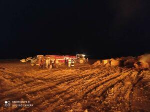 Ночью в Татарстане выгорел двухсотметровый склад с рулонами сена