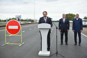Песошин в Челнах открыл отремонтированную по нацпроекту дорогу