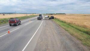 Момент смертельного ДТП с тремя погибшими на трассе в Татарстане попал на видео