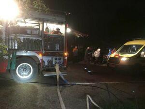 Из ночного пожара в татарстанском селе спасли трех человек