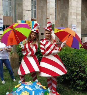В День города в Чистополе впервые состоялся конкурс-парад зонтиков