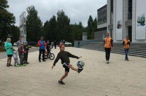 В Бугульме в День города провели турнир по чеканке мяча