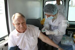 В Татарстане против гриппа вакцинировали 16,7% жителей от плана