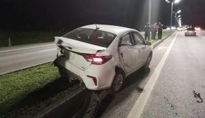 Автомобили раскидало по дороге после массовой аварии под Казанью