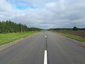 В Спасском районе РТ по нацпроекту отремонтировали участок дороги Ким – Кузнечиха