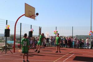 В кукморской деревне Кошкино открыли многофункциональную спортплощадку