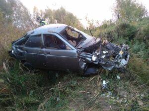 Три человека пострадали в вылетевшей с трассы в Татарстане легковушке