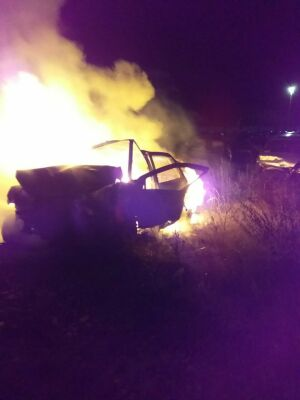 Ночью в Елабуге дотла сгорели две легковушки