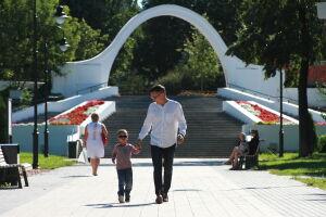 В казанскомпарке «Черное озеро» навремя ремонта закрыли арку влюбленных