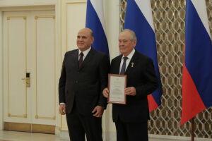 Мишустин вручил Шаймиеву премию Правительства РФ в области культуры