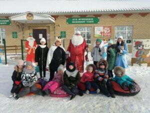 В селе Тубылгы Тау Новошешминского района для детей провели «Зимние забавы»