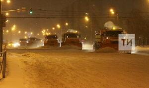 Около 1 тыс. кубометров снега вывезут из Мамадыша после снегопада