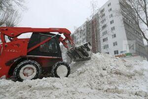 Высота снежного покрова в Казани достигла январского максимума