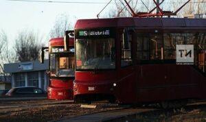 В Казани из-за морозов трамваи позднее вышли на маршруты