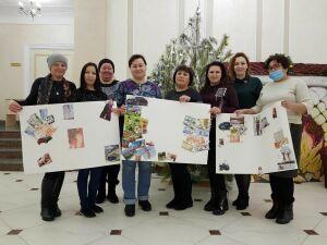 Дети-инвалиды Бугульминского района посетили мастер-класс «Живопись маслом»