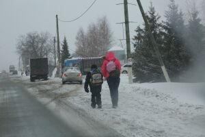 В Татарстане сохранится снежная и ветреная погода
