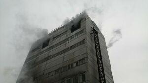 В Татарстане из пожара в здании завода спасли двух рабочих, которые делали ремонт