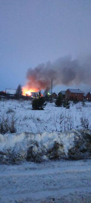 В МЧС РТ опровергли, что к пожару в Займище долго ехали из-за нечищеных дорог