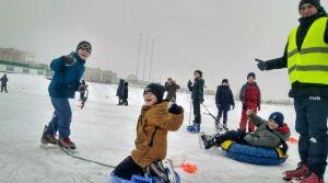 На челнинском ипподроме прошли саночные гонки для детей