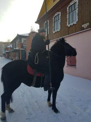 Челнинские казаки объяснили, почему на улице Центральная появились лошади