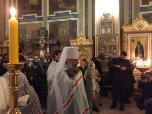 Митрополит Кирилл возглавил Рождественскую службу в Никольском соборе Казани