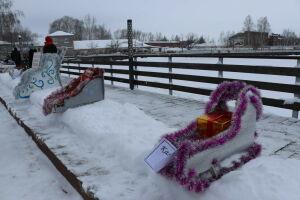 В Менделеевске на рождественской ярмарке выбрали лучшие сани