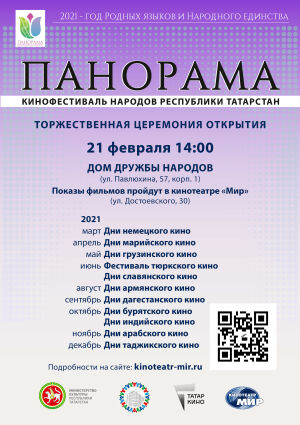 В Доме дружбы народов впервые пройдет кинофестиваль народов Татарстана