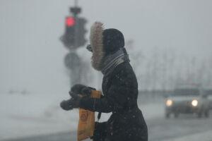 Татарстанцев предупредили о метели и сильном ветре