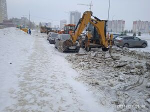 В исполкоме Челнов призвали не снижать темпы уборки снега, несмотря на потепление