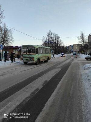 В Лениногорске автобус сбил женщину на зебре
