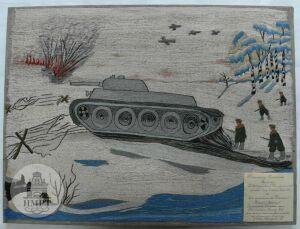 На выставке в Казани представят вышитую женами советских офицеров картину