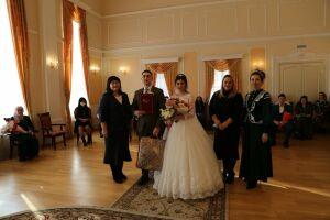 Первая пара из Алексеевского района провела бракосочетание на татарском языке