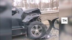 Один человек пострадал в массовом ДТП на въезде в Казань