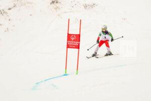 Участники спартакиады Спецолимпиады начали соревноваться на склонах Свияги