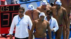 Мужская сборная России по водному поло тренируется в Казани