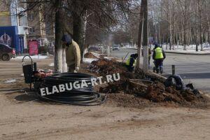 В Елабуге модернизируют 8 км сетей уличного освещения