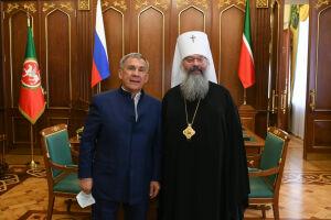 Минниханов обсудил с митрополитом Кириллом развитие духовной семинарии