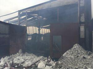 На пожаре на складе пиломатериалов в РТ погиб мужчина