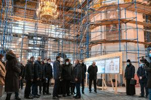 Роспись интерьеров собора Казанской иконы Божией матери выполнена на 80%