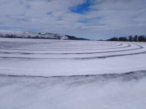 В Татарстане провели чернение льда, чтобы избежать заторов на Вятке
