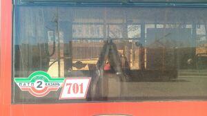 В Казани водитель заявил в полицию, что в стекло его автобуса стреляли