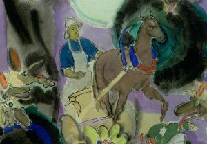 Станцию «Площадь Тукая» украсят скрытые цензурой акварели Баки Урманче к сказке «Шурале»