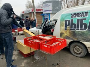Участники рейда в Мирном обнаружили нелегальную точку торговли рыбой