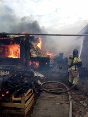 Два человека погибли, один пострадал на пожаре в Челнах