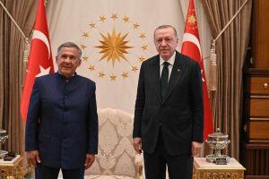 Рустам Минниханов встретился с Реджепом Тайипом Эрдоганом