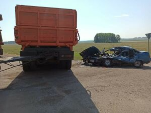 Два человека погибли в ДТП с грузовиком и легковушкой в Татарстане