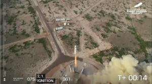 Безос совершил суборбитальный полет в космос на корабле New Shepard
