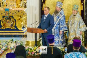 Игорь Комаров принял участие в церемонии освящения Казанского собора