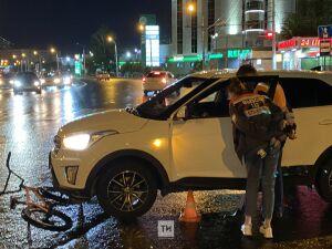 Кроссовер сбил подростка на велосипеде у ТЦ «Тандем» в Казани