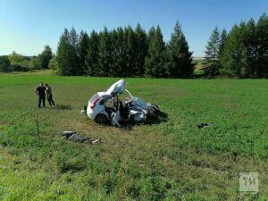 Один человек погиб и четверо пострадали в лобовом столкновении легковушки и «КАМАЗа» в РТ